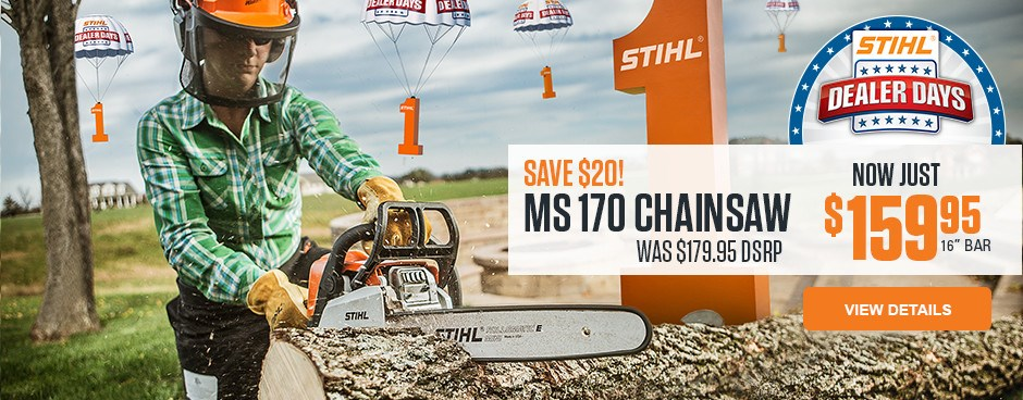 SAVE $20 on MS 170 Chainsaw!